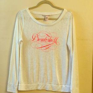 "Victoria Secret long sleeve TeeShirt ""Bombshell"""